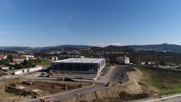 Thumbnail for Aerial view of New Factory Construction