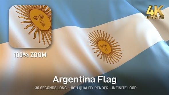 Cover Image for Argentina Flag - 4K
