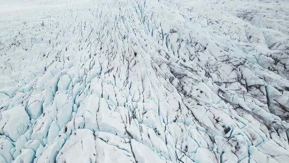 Awesome Drone Shot of Ice Glaciers Floating on Top Of the Water