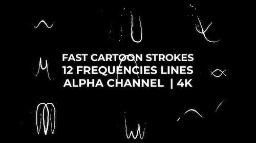 Fast Cartoon Strokes - Frequencies Lines