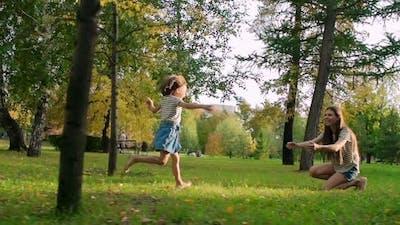 Running to Hug Mom