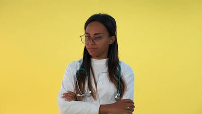 """Serious Black Female Doctor Saying """"No"""" to Somebody"""