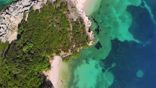 Flight Over a Tropical Island