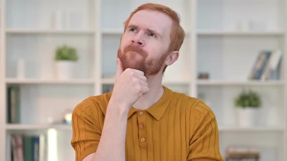 Thumbnail for Portrait of Redhead Man Thinking and Getting Idea