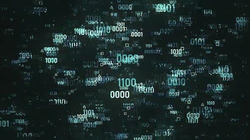 Blue Digital Data Code