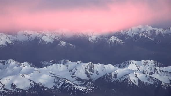 Thumbnail for Colorful Sky Above The Mountain Range