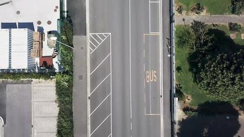 AERIAL MS Empty street amid Coronavirus pandemic / Florence, Tuscany, Italy