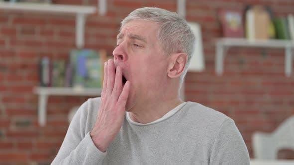 Thumbnail for Sleepy Senior Old Man Yawning
