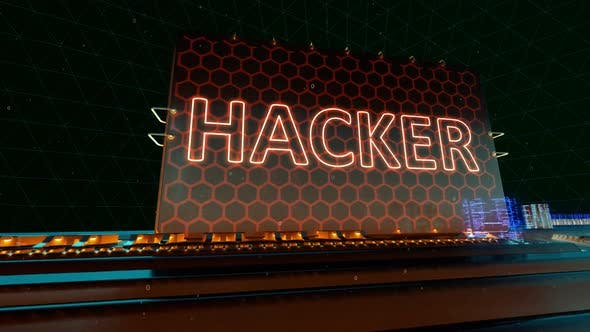 Thumbnail for Data Hacker Attack Cyber Online and Crime Words on Digital Futuristic Circuit Board