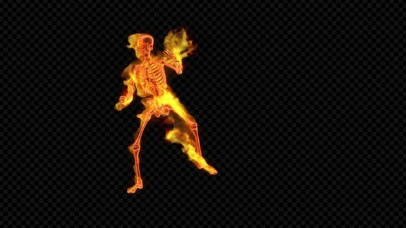 Thumbnail for Fiery Skeleton Combat Dance