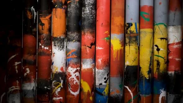 Thumbnail for Komposition mit rotierenden Röhren mit Gemälden