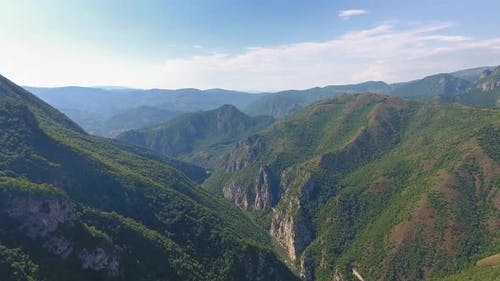 Aerial Landscape with Mountains in Serbia