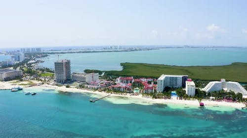 Beautiful Scenic View of Cancun From Above