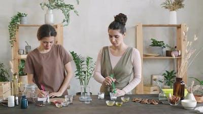 Women Making Homemade Cosmetics