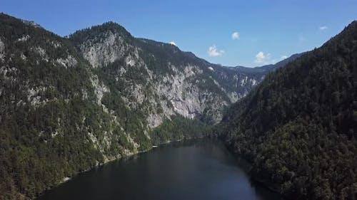 Aerial of Toplitzsee and Kammersee, Austria