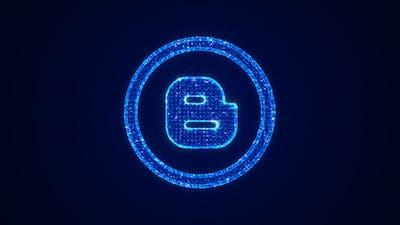 Social Media Blogger Icon Hologram