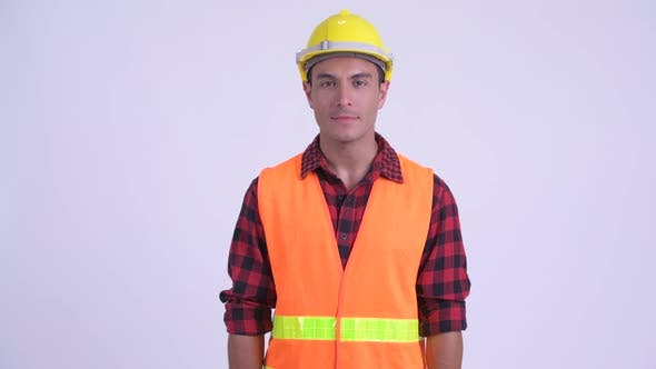 Thumbnail for Young Happy Hispanic Man Construction Worker Smiling with Arms Crossed