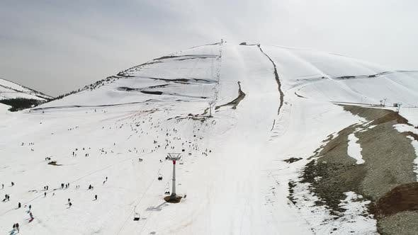 Thumbnail for Snowy Mountains And Ski Center Aerial View 12