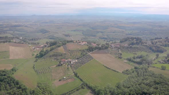 Thumbnail for Tuscany, Italy. View From the Top To the Fields of Vineyards. Beautiful Landscape, Hills, Forests