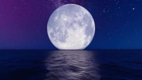Big Moon on Horizon