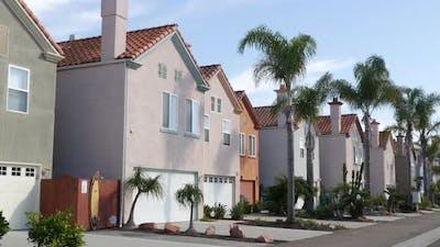 Houses on Suburban Street California USA