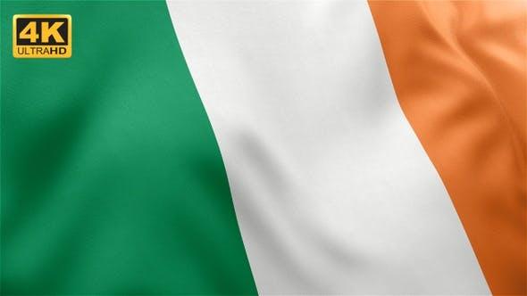 Thumbnail for Flagge von Irland - 4K
