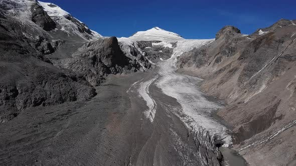 Aerial of Grossglockner Glacier, Austria