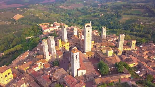 Thumbnail for Wonderful Village of San Gimignano. A Unesco World Heritage. Tuscany
