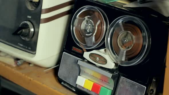 Ancient Reel to Reel Tape Recorder.