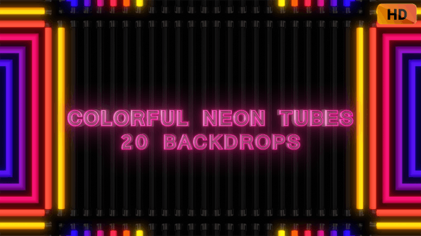 Colorful Neon Tubes HD