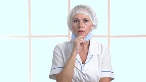 Portrait of Shocked Medical Worker