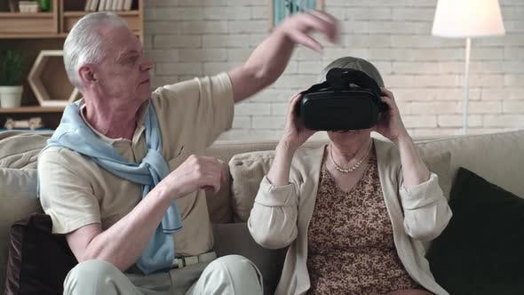 Cover Image for Elderly Couple with VR Headset