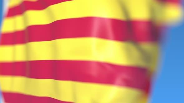 Thumbnail for Waving Flag of Catalonia an Autonomous Community in Spain