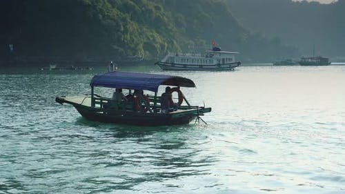 Small Boat In Halong Bay