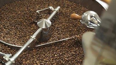 Coffee Grinder Stirring Coffee Beans