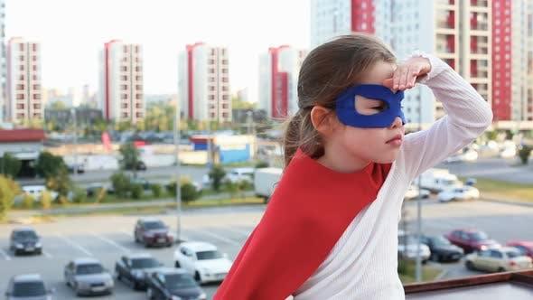 Thumbnail for Superhero Kid Against Urban Background