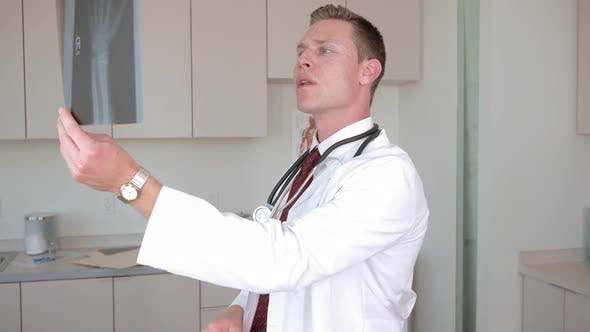 Thumbnail for Medical doctor checking x ray