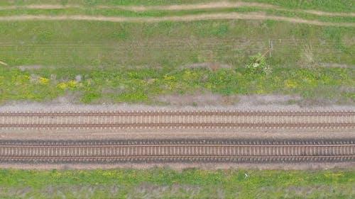 Railroad Aerial Top View