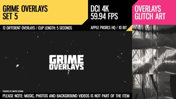 Thumbnail for Grime Overlays (4K Set 5)