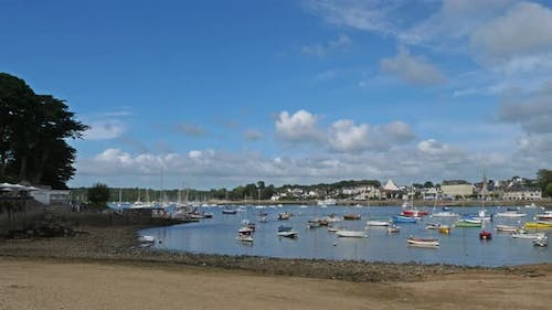 Combrit harbour, Finistere, Brittany, France