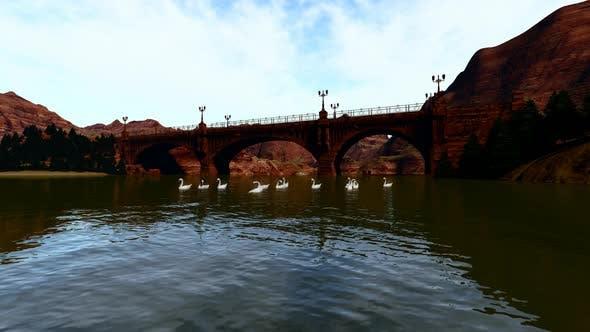 Thumbnail for Brücke und Flusslandschaft