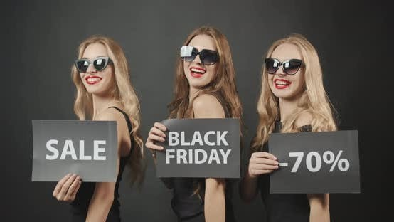 Thumbnail for Woman Demonstrating Black Friday Posters