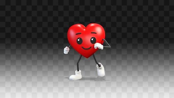 Heart runs forward