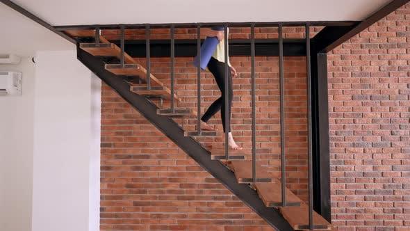 Female in Yoga Studio