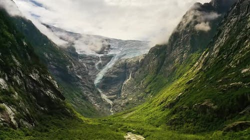 Beautiful Nature Norway Glacier Kjenndalsbreen