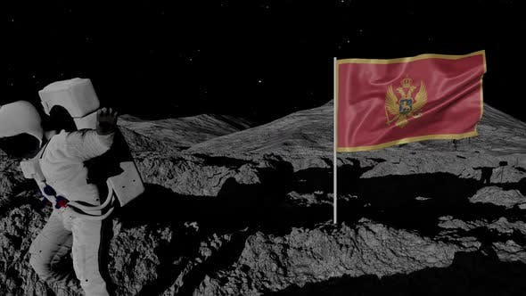 Thumbnail for Astronaut Planting Montenegro Flag on the Moon