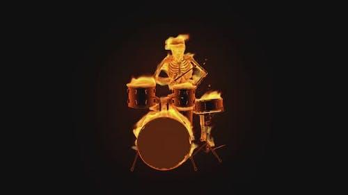 3D Skeleton - Fiery Drums Show