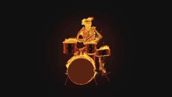 Squelette 3D - Fiery Drums Show