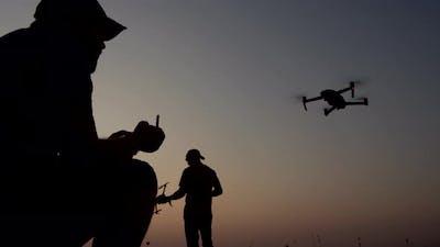 Drones Flying Field.