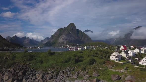 Thumbnail for Aerial View of Hamnoy Village in Norway